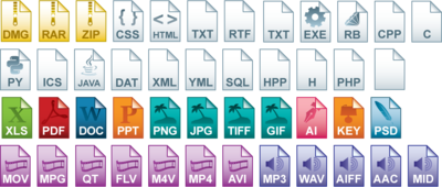 File Type icon set